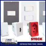 Placas interruptores e tomadas