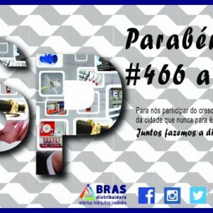 PARABÉNS SÃO PAULO PELOS 466 ANOS
